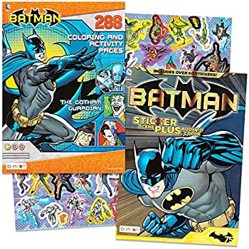 dc comics batman coloring activity book set with stickers 2 coloring books over - Batman Coloring Books