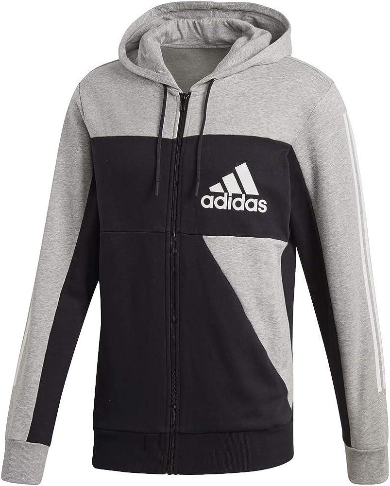 Men's Sport Id Color Block Full Zip Hooded Sweatshirt