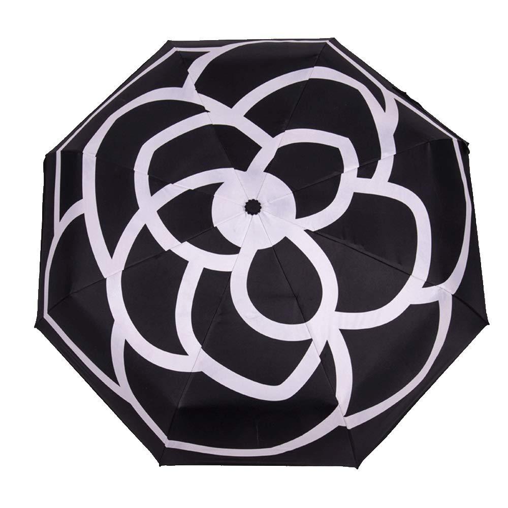Classic Quality Windproof Handle Umbrella, Portable Lightweight Outdoor Golf Umbrella,Portable Travel Umbrella All Steel Reinforcement (Color : Black) by AZZ