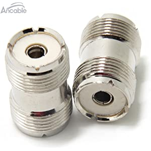 Ancable UHF PL-259 Female to UHF PL-259 Female Coaxial Adaptor Connector Coupler