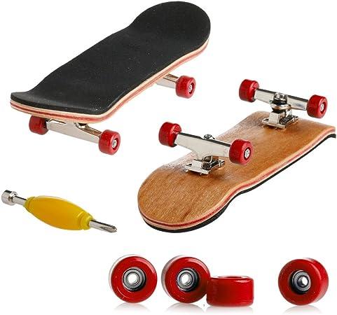Children/'s MINI SKATEBOARD CUSCINETTO RUOTE Professional Maple Dito toys gioco