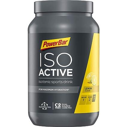 Powerbar Isoactive Bebida Isotónica con Electrolitos y Hidratos de Carbono, Sabor Límon - 1320 gr