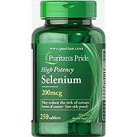 Puritan's Pride High Potency Selenium 200mcg 250 ct