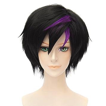 Amazon.com  Movie Big Hero 6 Go Go Tomago Anime Cosplay Costume Wig Hair  (Black Violet)  Beauty b1248bea6d