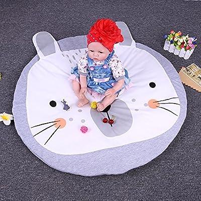 "Peyan Ultra Soft Cotton Bedroom Rugs Kids Room Carpet Modern Shaggy Area Play Rugs Floor Mat for Baby Children Home Decor 36"" Diameter"