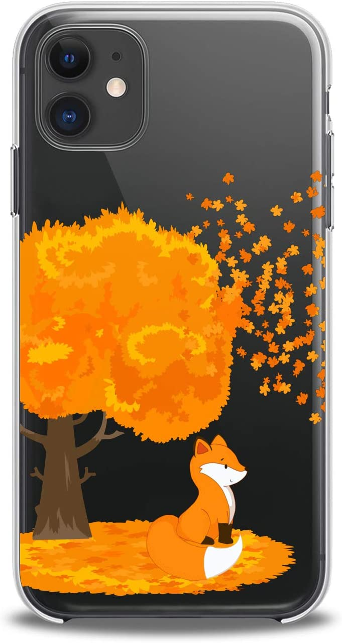 Lex Altern Case Compatible with iPhone 12 Mini 5G 11 Pro Xs Max Xr 8 X 7 Plus 6 SE 5 Animals Kawaii Soft Funny Girly Slim fit Clear Lightweight Cover Fox Design Orange Art Smooth Print Phone Women