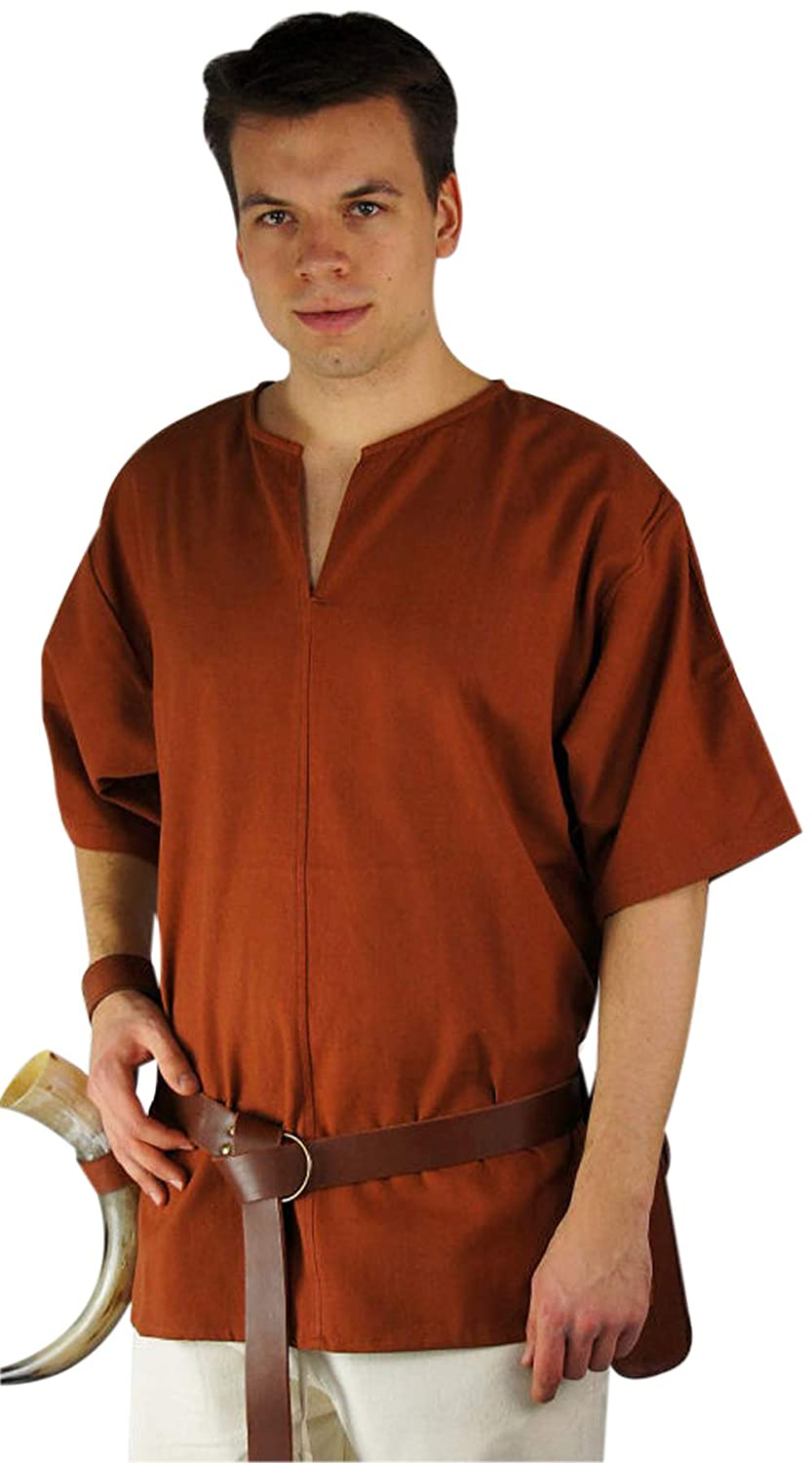 Medieval-LARP-SCA-Re enactment-ROMAN-VIKING Tunic-Shirt WITH SLEEVES ALL SIZES