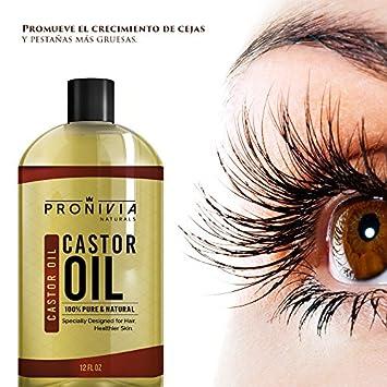 Aceite De Ricino 100 Natural Puro Para El Cabello y Pestanas – Estimula El Crecimiento del Pelo 365 D as De Garantia Incluida.