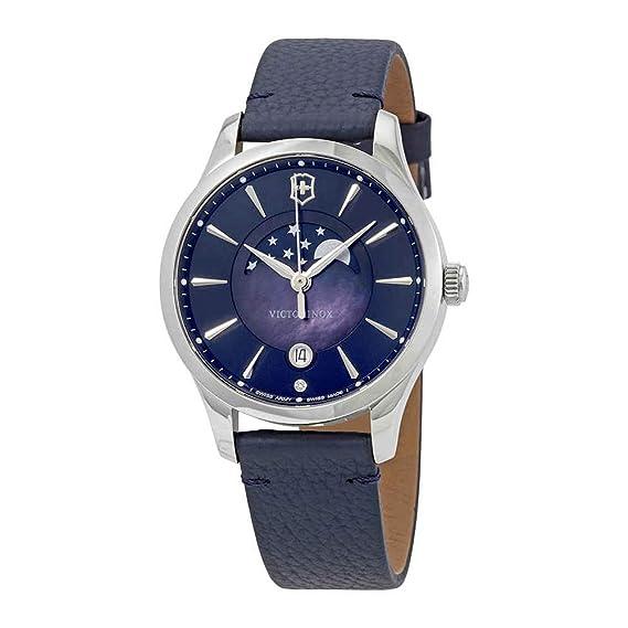 Victorinox Reloj Analogico para Mujer de Cuarzo con Correa en Cuero 241794: Amazon.es: Relojes