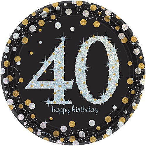 Prismatic Plate 7 - Amscan 541545 Sparkling Celebration 40 Round Prismatic Plates Party Supplies 7
