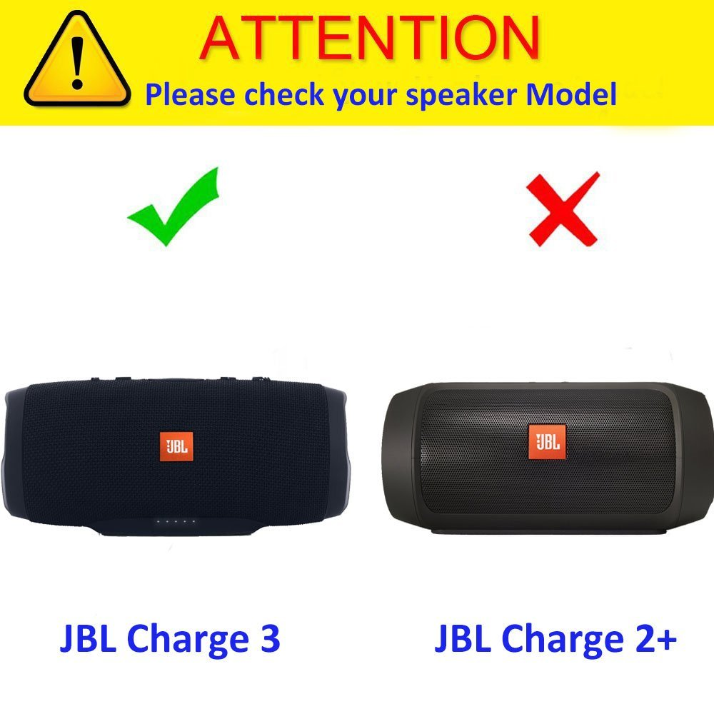 jbl 3 1. amazon.com: khanka carrying case for jbl charge 3 waterproof portable wireless bluetooth speaker. extra room charger and usb cable: electronics jbl 1
