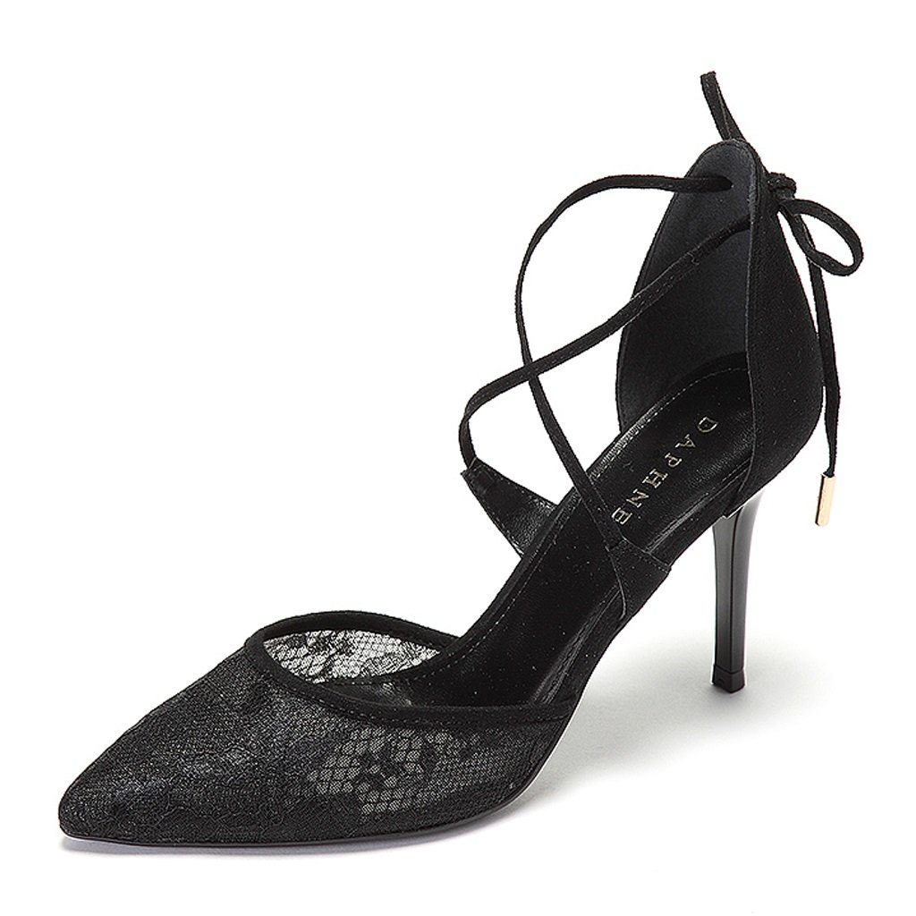 Frauen Frauen Frauen High-Heeled Schuhe Elegante Spitze sexy dünne Schuhe bdabf3
