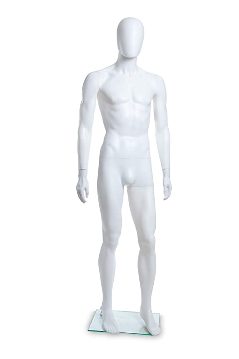 Blowing White PL Adult Female Abstract Plastic Mannequin PL-F1