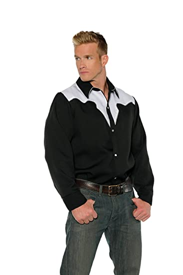 5c96736c6d7 Amazon.com  Underwraps Black White Rodeo Mens Cowboy Costume Shirt  Clothing