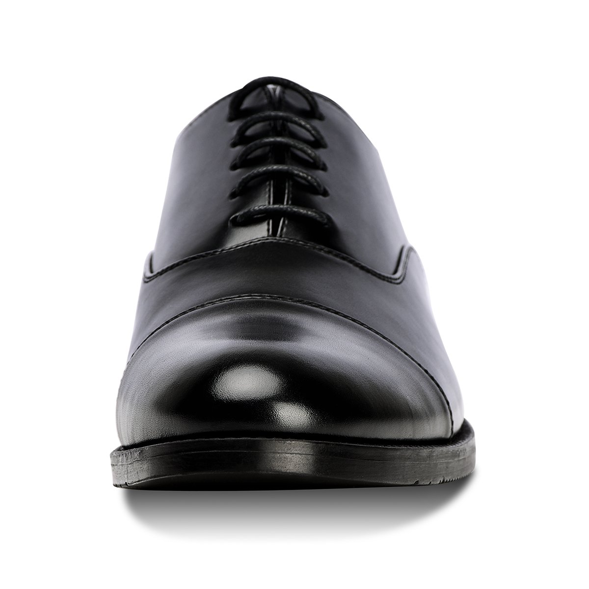 Men's Dress Shoes FormalLeather Oxfords Lace up Black 10.5 by GOLAIMAN (Image #4)