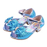 Amazon Price History for:Wangwang Kids Girls Sequin Sandals Princess Crystal High Heels Shoes