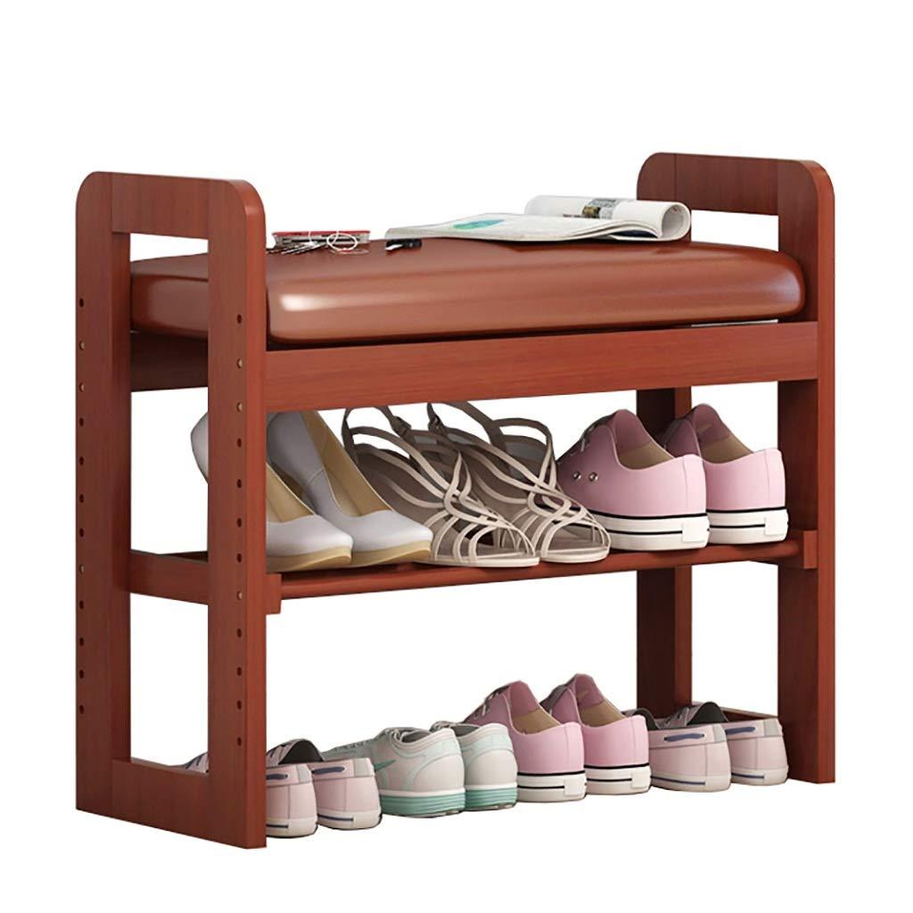 2層の木製の靴のベンチ、71cm * 30cm * 60cmの靴箱、ソファスツール、廊下に最適、リビングルーム、バスルーム (Color : C) B07T8P141R C