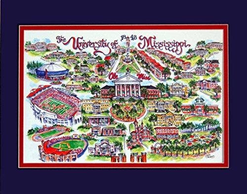 (LINDA001 Artwork, OLE Miss, University of Mississippi. University of Mississippi Limited Edition.)