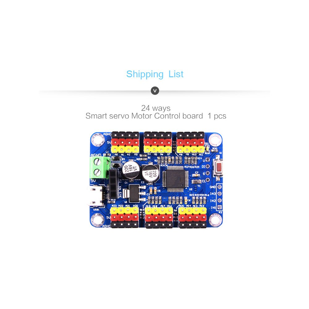 24 Way Steering Gear Control Panel Controller Usb Serial Pic Servo Motor Circuit Port Ttl Bluetooth Wireless Host Computer App Industrial Scientific