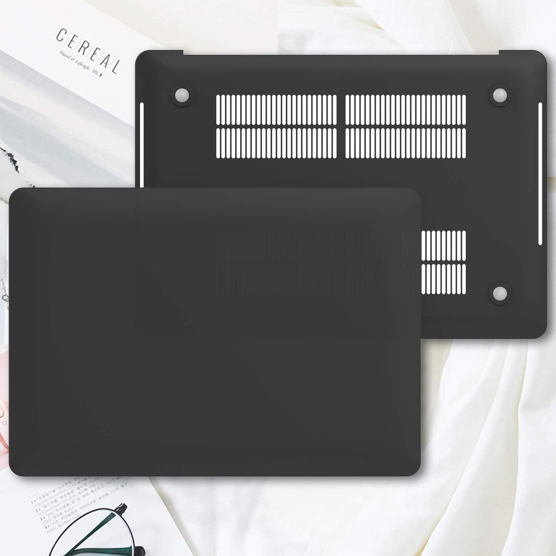 ProCase Coque Antichoc MacBook Pro 16 Pouces A2141 en 2019 PC Case /Étui Housse de Protection Cover Mince Simple Translucide Utilisation Optimale D/écoup/ée avec Finesse-Noir