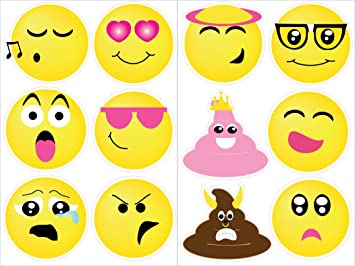 Amazoncom Emoji Wall Stickers Decals Emoji Room Decor And - Emoji wall decals