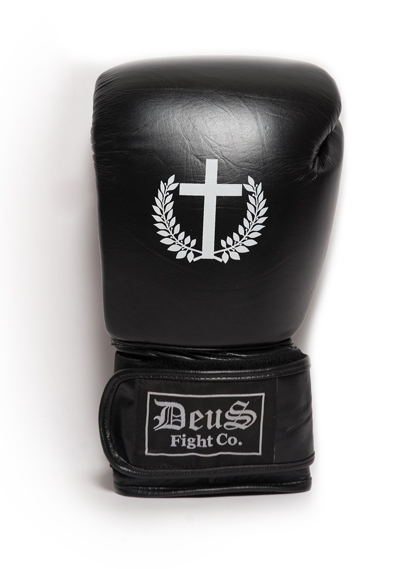 Deus Fight Pro Style Boxing Gloves with Cross
