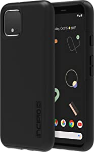 Incipio DualPro Case for Google Pixel 4 - Google Certified Protective Cover (Black) [Extremely Rugged I Shock Absorbing I Soft-Touch Coating I Hybrid] - GG-083-BLK