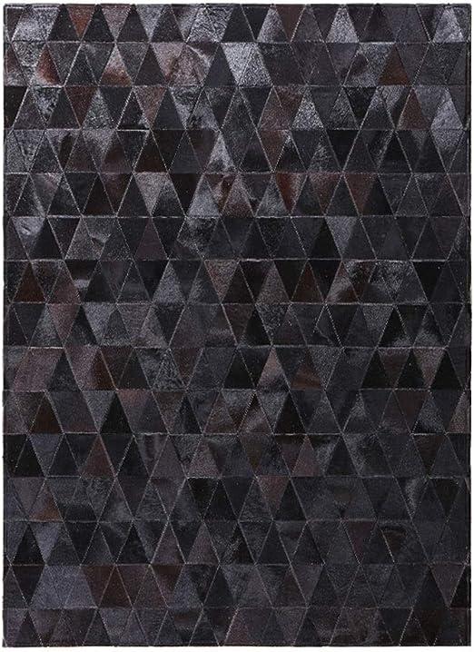YGYYDT Alfombra Negra Pura Moderno Minimalista Geométrica Sala de ...