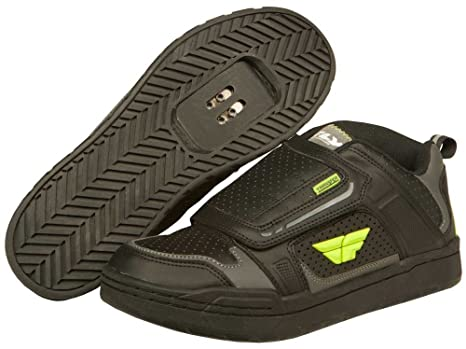 Fly Racing Mountain Bike colore nero-Neon 41 scarpe Transfer