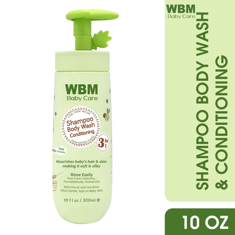 WBM Care Kids 3 in 1 Shampoo Conditioner And Body Wash | Nourishes Baby Hair & Skin | 10 oz by WBM LLC