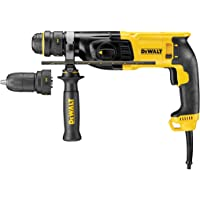Dewalt D25134K-GB D25134K SDS+ Hammer 2kg 3 Mode with Quick Change Chuck 26mm 240V, 800 W, 240 V, Black/Yellow, 240 Volt