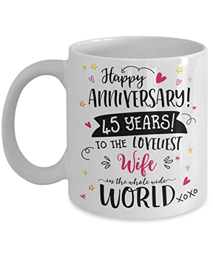 Amazon 45th Wedding Anniversary Gifts For Her Loveliest Wife