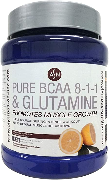 ASN PURE BCAA 8-1-1 + GLUTAMINE - limón - 500g: Amazon ...