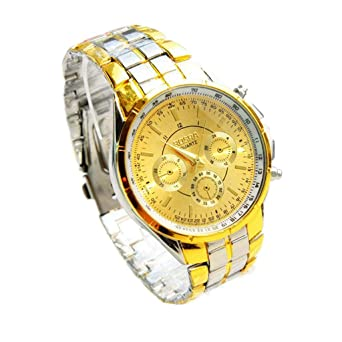 HULKY - Reloj de pulsera analógico de cuarzo para hombre, con números romanos, correa
