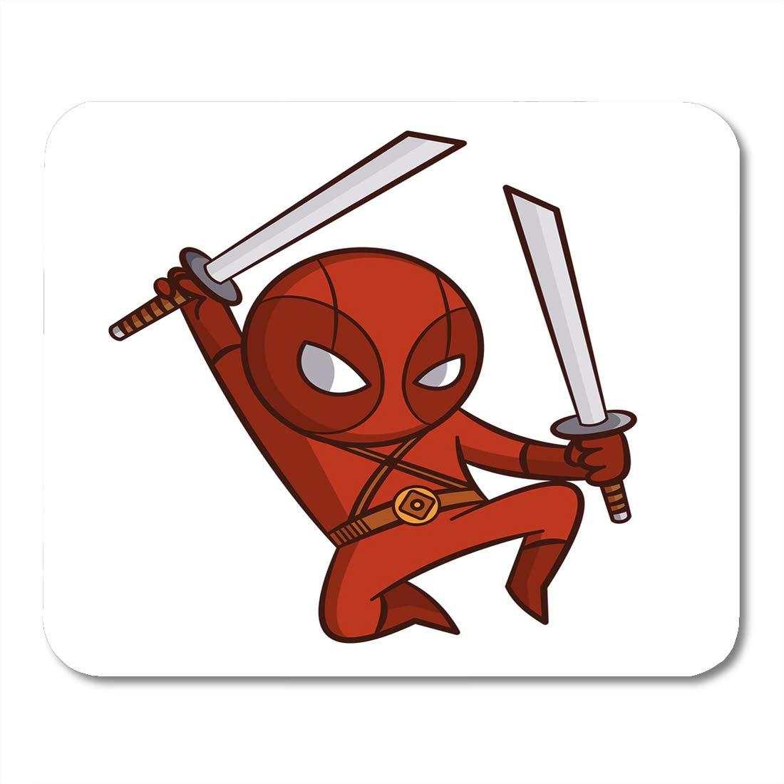 Amazon.com : Emvency Mouse Pads Super Black Hero Red Ninja ...