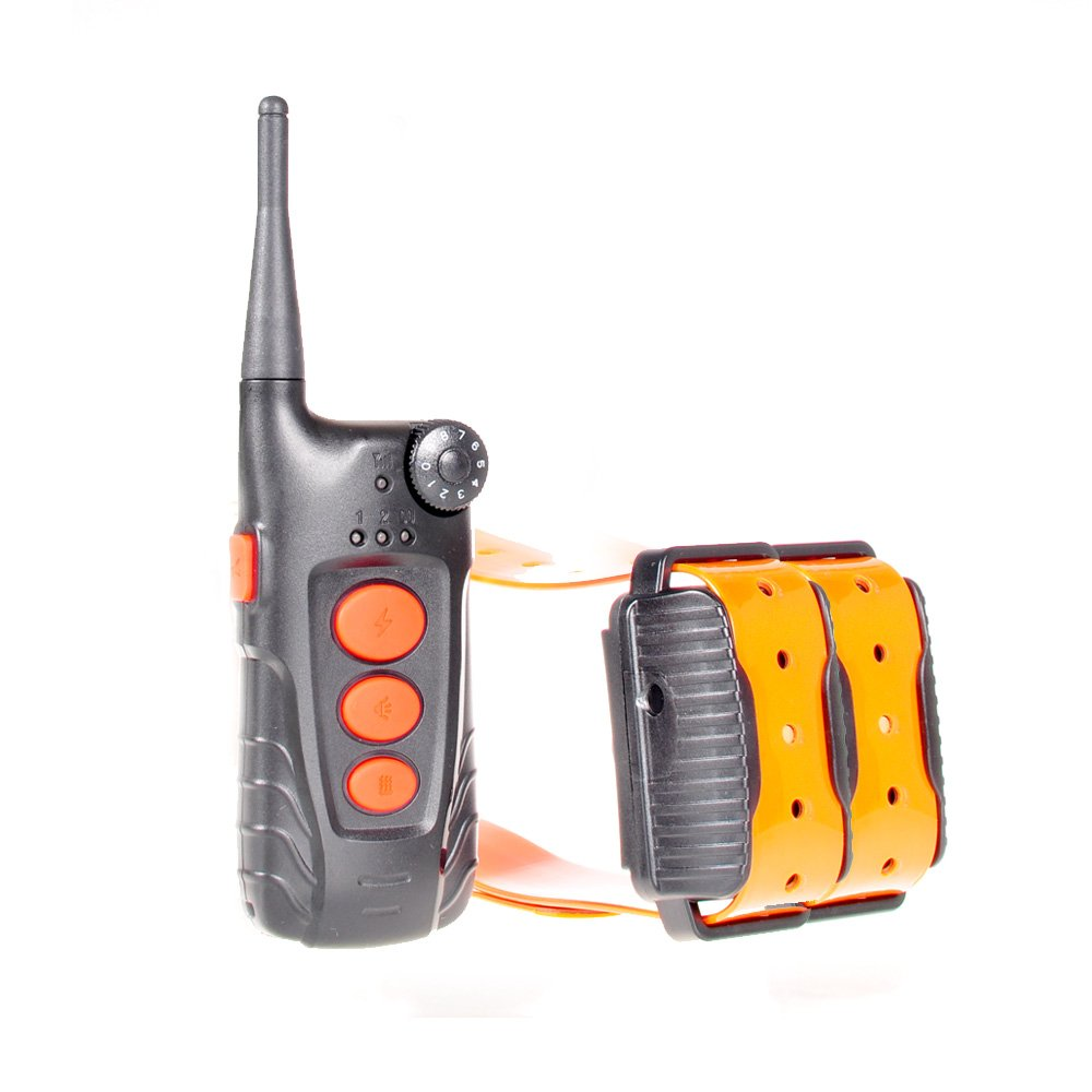 Aetertek At-918C Submersible 550m Remote Electric Dog Shock Trainer Rechargeable (Two Dogs Collar)