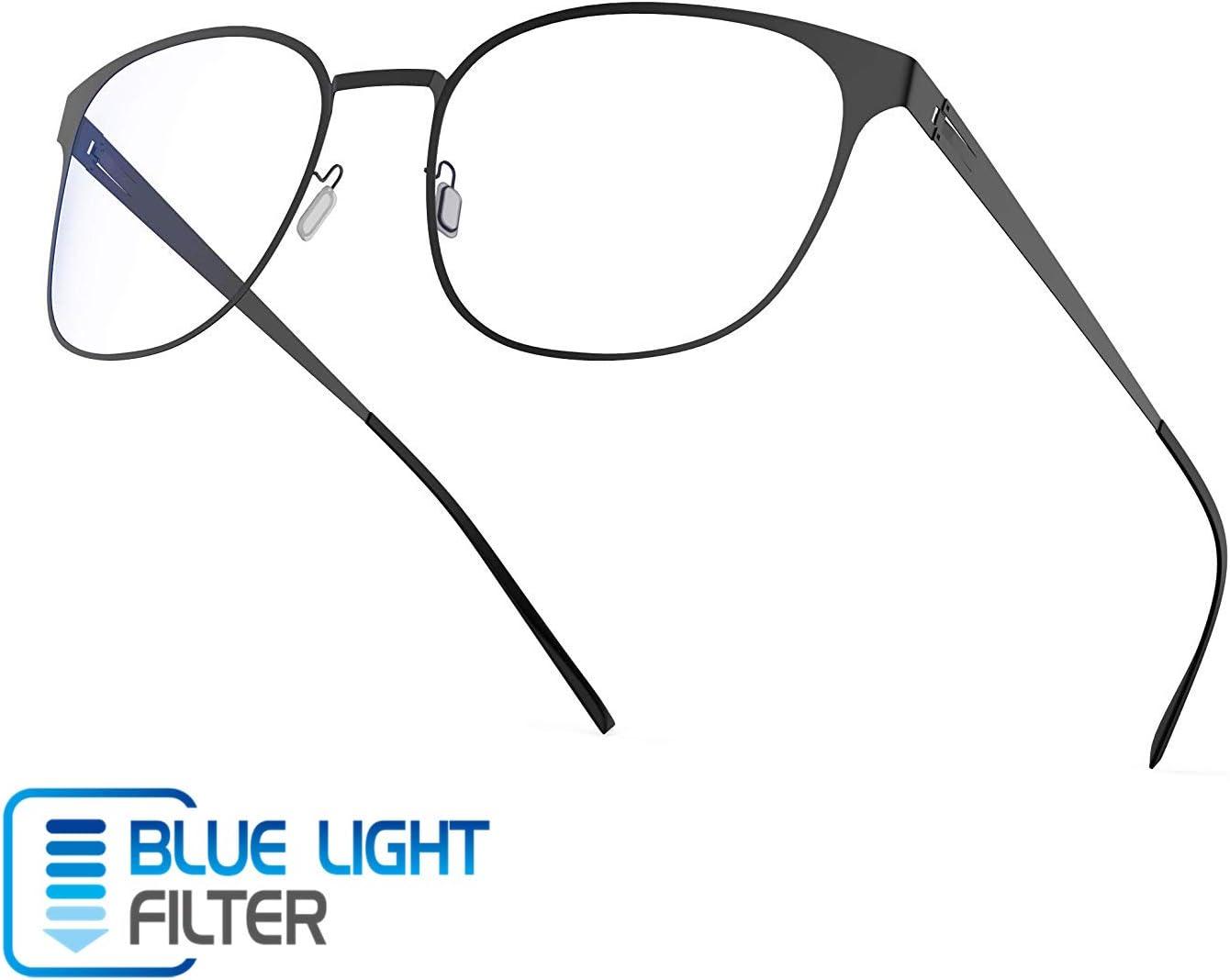 Avoalre Gafas Lectura Transparentes Hombre/Mujer Gafas Anti Luz Azul Gafas para Ordenador Gaming PC Officina Video Juegos Tele DVD Gafas de Sol Unisexo- Negro