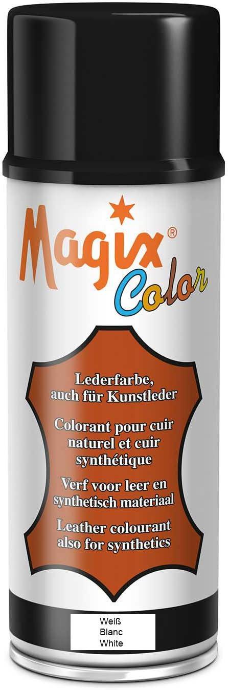 Magix - Tinte para cuero (400 m, en aerosol), blanco, 400ml ...