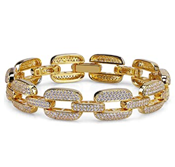 Femmes Jaune Hommes Cuban Lien Bracelet Chaîne Yolande Miami Or oedQxrCBW