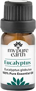 Eucalyptus Essential Oil, 100% Pure, Sustainably Sourced, Organically Crafted, Aromatherapy, My Pure Earth, 10ml,MPE-Eucalyptus