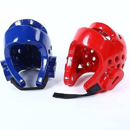 die Sparring-Sportzubeh/ör trainieren Sto/ßfester Kickboxing-Helm Full Face Head Guard mit Klettverschluss f/ür Kinder XS,Blue FADDR Kids Boxing Head Guard