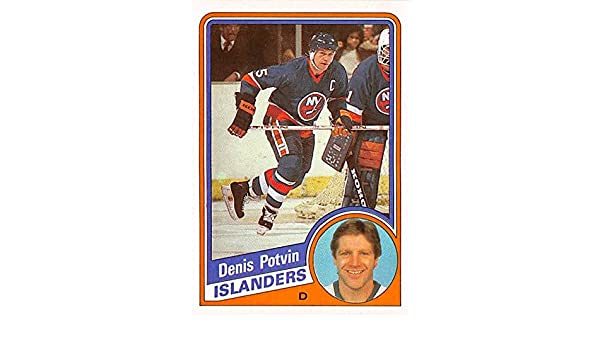 f7b26062474 Denis Potvin trading card (New York Islanders Hockey Stanley Cup Champion)  1984 Topps #100 at Amazon's Sports Collectibles Store