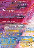 Notenheft Din A4 hoch: 48 Seiten, 24 Blatt, perforiert, 12 Systeme (Schott-Komponisten-Karte)