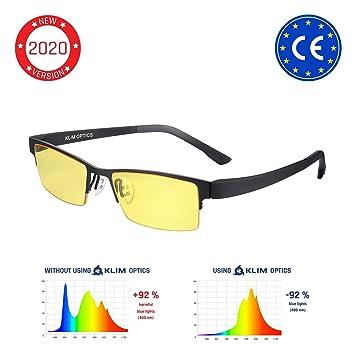KLIM™ Optics - Gafas para Ordenador Anti luz Azul + Evita la Fatiga Ocular + Gafas Gaming para PC, Móvil TV, Tablet + Alta protección + Potente Filtro ...
