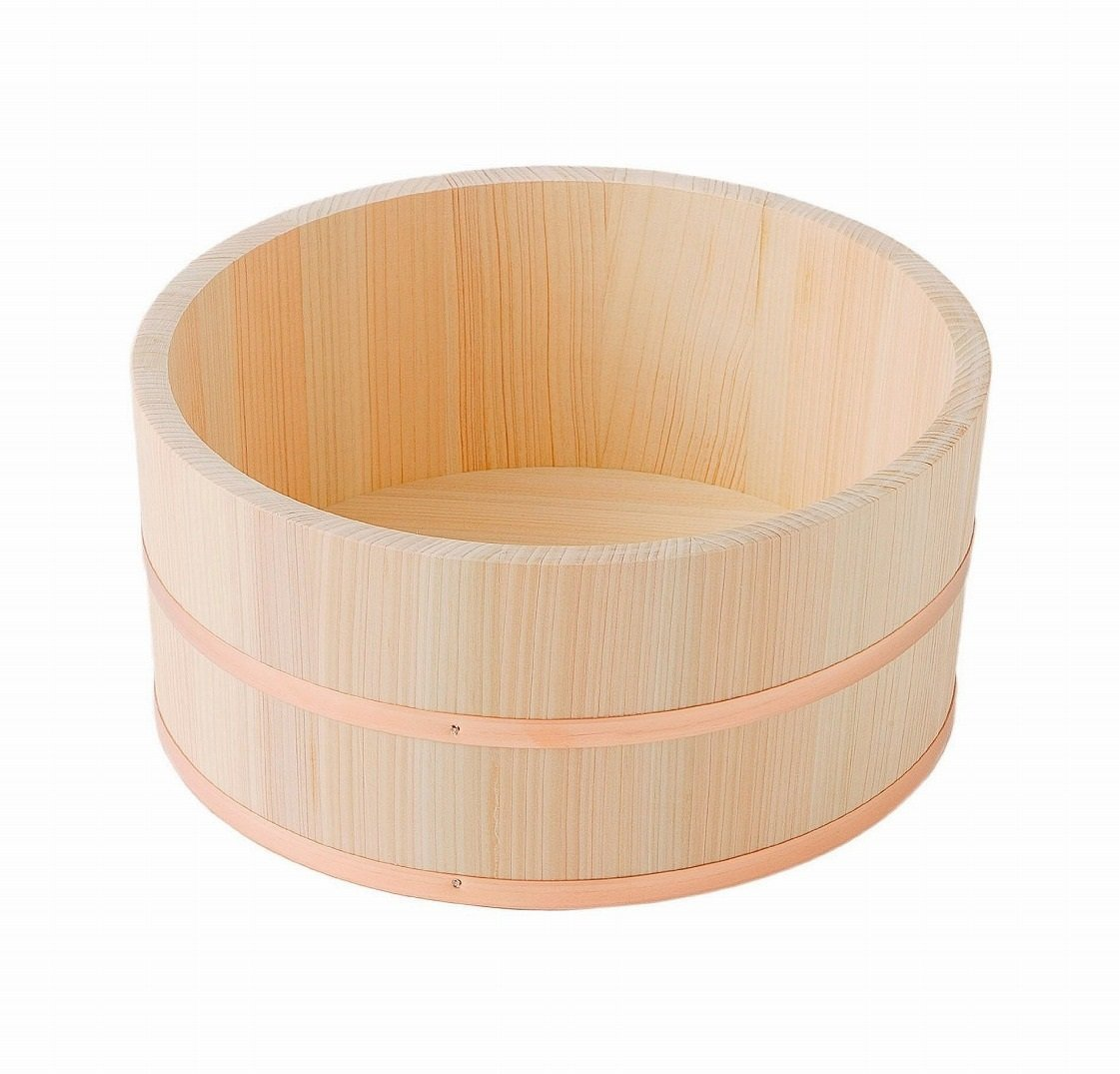 Made in Japan Hinoki Oke Pure Wood Bathtub Large Bucket
