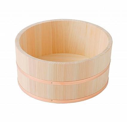Amazon Com Made In Japan Hinoki Oke Pure Wood Bathtub Large Bucket