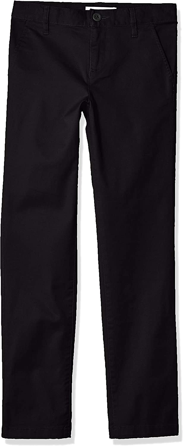 Essentials Girls Flat Front Uniform Chino Pant