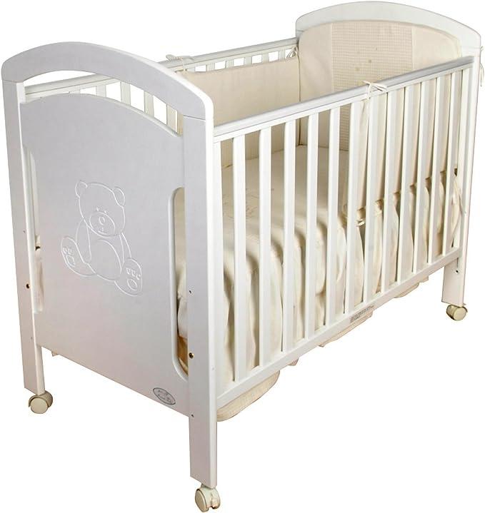 Cuna para bebé, modelo osito. Lateral abatible y 3 posiciones ...