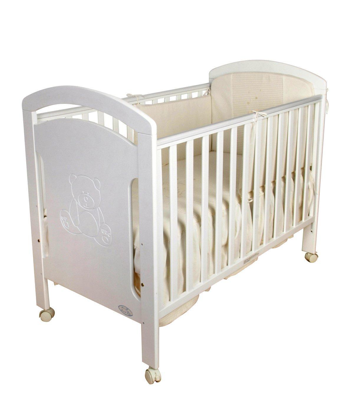 Cuna para bebé, modelo osito + Colchón Viscoelástico + Edredón y ...