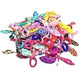 Leisial 100 Stück Farbige Niedliche Häschen-Ohren Gummibändern für Mädchen